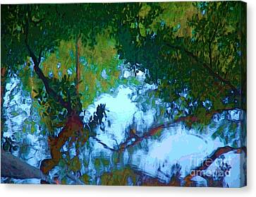Riverbank Reflections2 Canvas Print