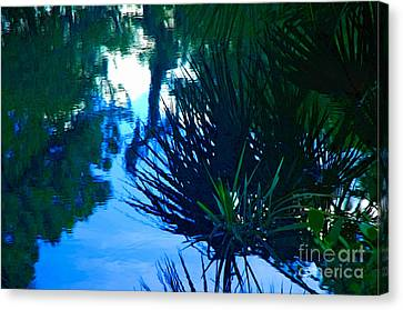 Riverbank Reflections3 Canvas Print
