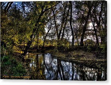Rivers Edge Canvas Print by Dan Crosby
