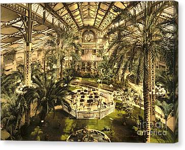 Riviera Winter Garden In Nice Canvas Print by Padre Art