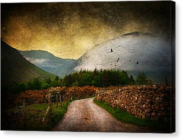 Road By The Lake Canvas Print by Svetlana Sewell