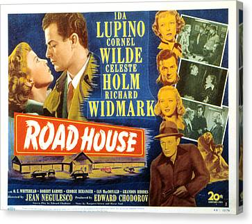 Road House, Ida Lupino, Richard Canvas Print by Everett