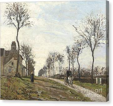 Road In Louveciennes Canvas Print by Camille Pissarro