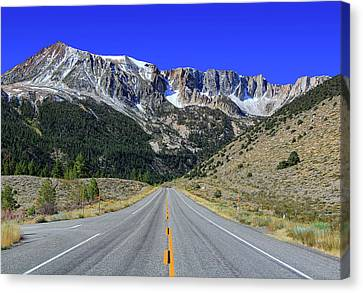 Road Marking On Road Canvas Print by David Toussaint - Photographersnature.com