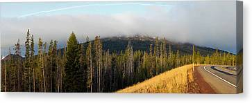 Road Near Mount Bachelor Canvas Print by Twenty Two North Photography