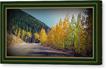 Canvas Print featuring the photograph Road To Fall by Michelle Frizzell-Thompson