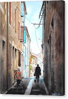 Road To Market In Gascony Canvas Print