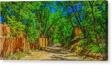 Canvas Print featuring the photograph Road To Santa Fe by Ken Stanback