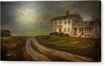 Farm Fields Canvas Print - Road To Sunset by Michael Petrizzo
