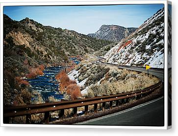 Road To Taos Village 1 Canvas Print