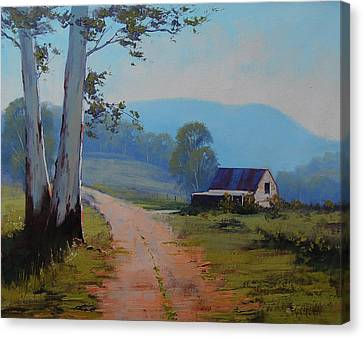 Road To The Farm Canvas Print by Graham Gercken