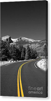 Road To The Rockies Canvas Print by Holger Ostwald