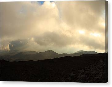 Canvas Print featuring the photograph Road Up Mauna Kea by Scott Rackers