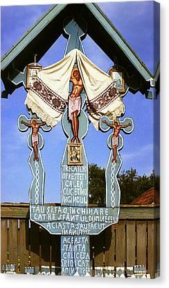 Wayside Cross Canvas Print - Roadside Crucifix I by Emanuel Tanjala
