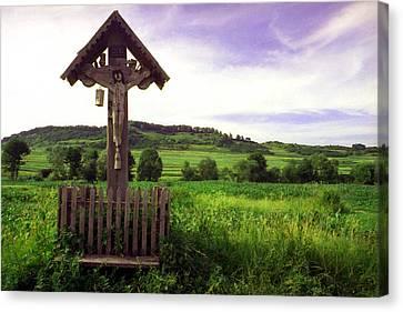 Wayside Cross Canvas Print - Roadside Crucifix Iv by Emanuel Tanjala