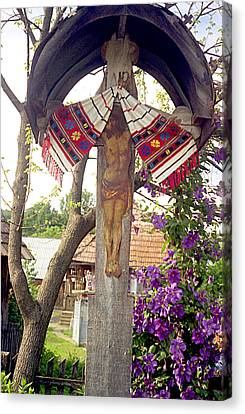 Wayside Cross Canvas Print - Roadside Crucifix V by Emanuel Tanjala