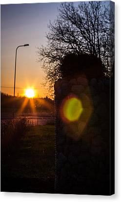 Canvas Print featuring the photograph Roadwarmer by Matti Ollikainen