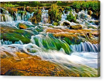 Roaring Rapids Canvas Print by Joshua Dwyer