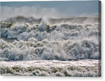 Roaring Sea Canvas Print by Nancie Rowan