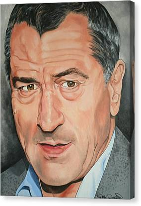 Portraits By Timothe Canvas Print - Robert Deniro by Timothe Winstead