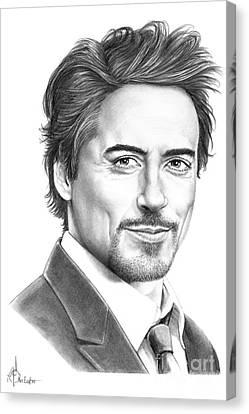 Robert Downey Jr. Canvas Print by Murphy Elliott