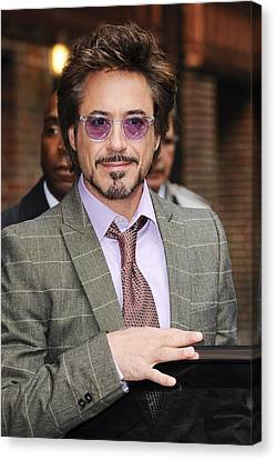 Robert Downey Jr., Visits Late Show Canvas Print by Everett