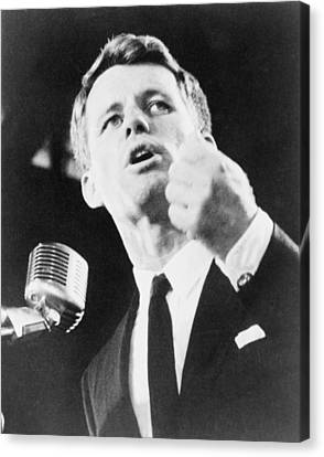 Robert F. Kennedy Making His Acceptance Canvas Print by Everett