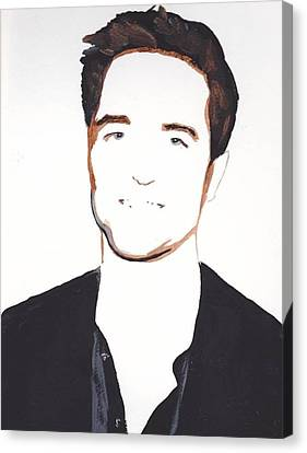 Canvas Print featuring the painting Robert Pattinson 13 by Audrey Pollitt