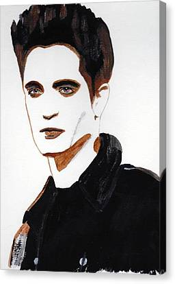 Canvas Print featuring the painting Robert Pattinson 15 by Audrey Pollitt