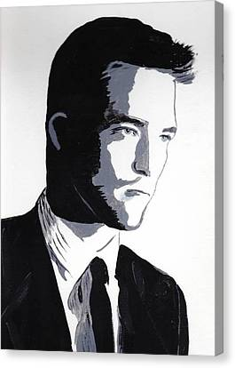 Canvas Print featuring the painting Robert Pattinson 2 by Audrey Pollitt