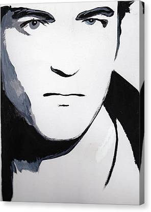 Canvas Print featuring the painting Robert Pattinson 5 by Audrey Pollitt