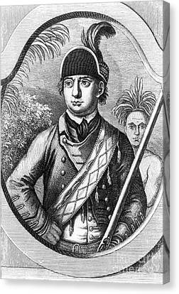 Robert Rogers, Colonial American Canvas Print by Photo Researchers