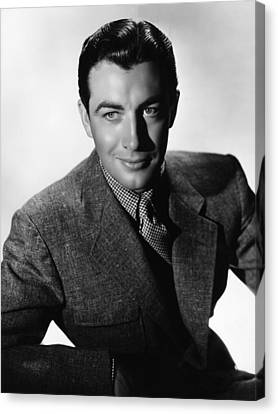 Robert Taylor, Mgm Portrait By Hurrell Canvas Print by Everett