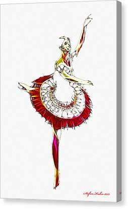 Robot Ballerina Canvas Print by Steve K
