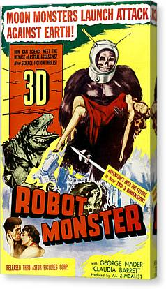 Robot Monster, Bottom, From Left George Canvas Print by Everett