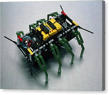 Robot Spider Constructed From Lego Canvas Print by Volker Steger