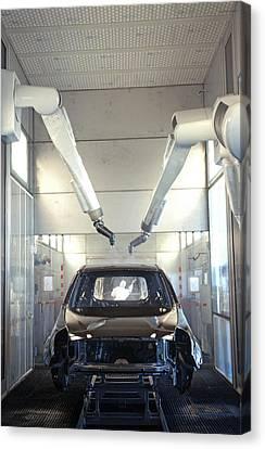 Robotic Car Production Line Canvas Print by Ria Novosti