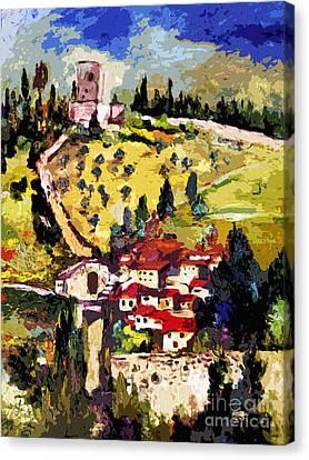 Rocca Maggiore Assisi Italy Canvas Print
