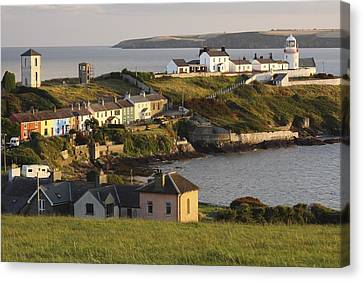 Roches Point Lighthouse In Cork Harbour Canvas Print by Trish Punch