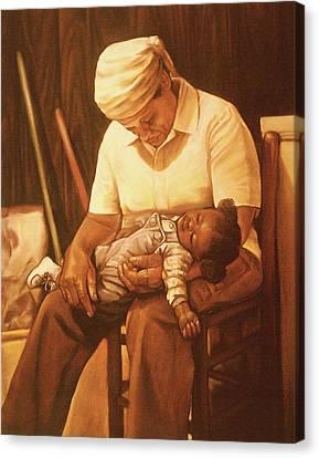 Rock-a-bye Grandma I Canvas Print by Curtis James