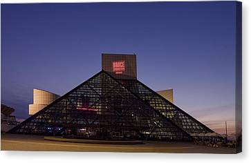 Rock And Roll Hall Of Fame Cleveland Canvas Print by Everett