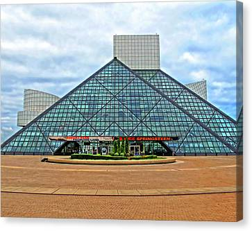 Rock And Roll Hall Of Fame Canvas Print by Dave Mills