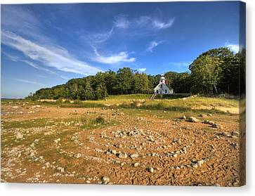 Canvas Print featuring the photograph Rock Circles by Coby Cooper