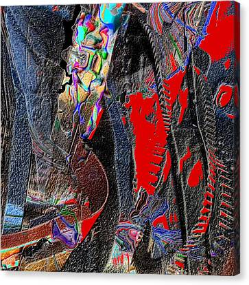 Rock Canvas Print by Dave Kwinter