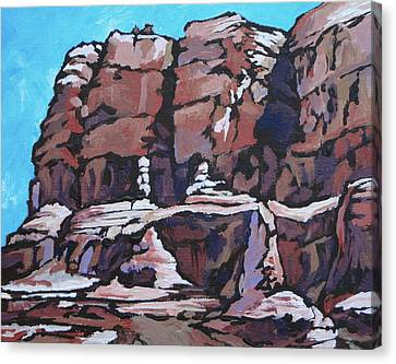 Rock Face Canvas Print by Sandy Tracey