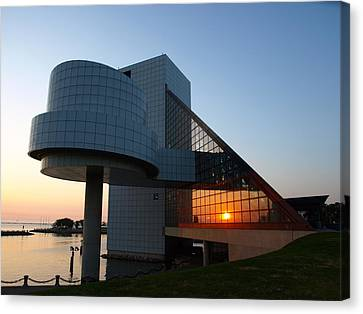 Rock Hall At Sunset Canvas Print by Allan Wrona