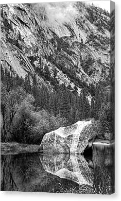 Rock Reflection Canvas Print by Jason Abando