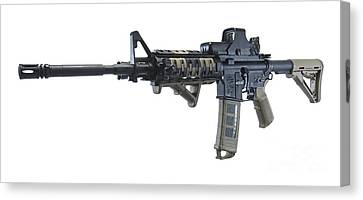 Rock River Arms Ar-15 Rifle Canvas Print by Terry Moore
