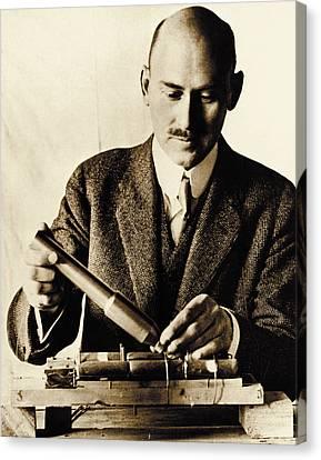 Combustion Canvas Print - Rocket Pioneer, Robert H. Goddard by Nasa