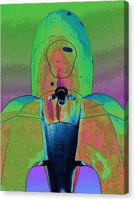 Rocket Ship 3 Canvas Print by Samuel Sheats